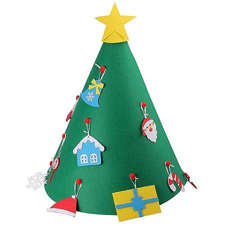 Gosear Fai da Te 3D Albero di Natale con 18pcs Toddler Amichevole Albero di  Natale Sospeso Ornamenti per Bambini Regali di Natale Natale Casa ...