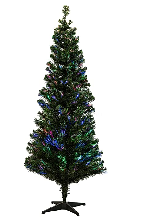 Amazon.com: EFORINK 7ft Pre-Lit Fiber Optic Artificial PVC Christmas ...