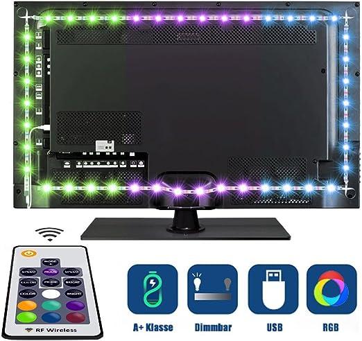 Tobbiheim Iluminación de TV, 2 Meter USB funciona con infrarrojos ...