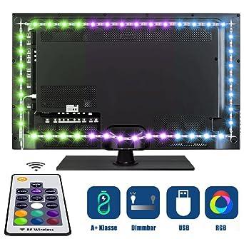 Tobbiheim LED TV Hintergrundbeleuchtung, Fernseher Leiste Einfach  Installation 2 Meter 40cm*2+60cm