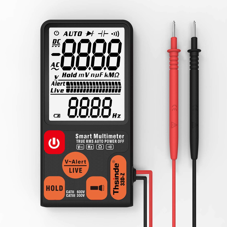 Multimetro digitale LCD con campo di misurazione automatico Contatore di impulsi da 6000 denti con torcia e barografo analogico display a 3 righe.