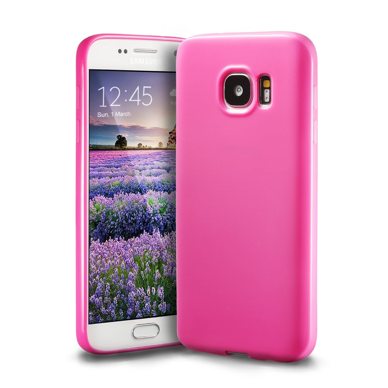 best authentic bbc3c 5057d Galaxy S7 Pink Case, technext020 Galaxy S7 Case Silicone Protective Back  Cover Slim Fit Samsung Galaxy S7 Bumper