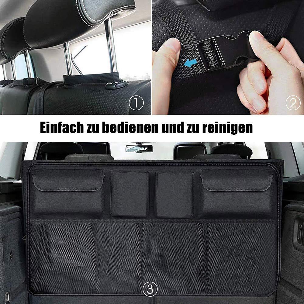 JHCtech R/ücksitz Kofferraum Organizer Wasserdichtes Faltbarer Auto Aufbewahrungstasche Auto-Sitztasche Autotaschen Organizer f/ür SUV Schr/ägheck Van(EINWEG) LKW