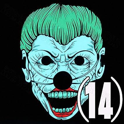 JIAO Máscara iluminada LED Creativa Luz fría Máscara de Control de Sonido Halloween Street Dance Bar