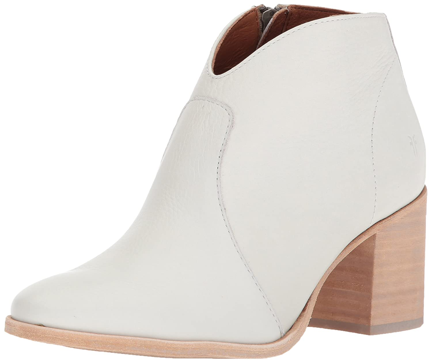 FRYE Women's Nora Zip Short Ankle Boot B071JZLVVR 10 B(M) US|White