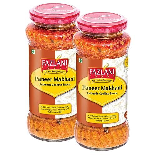 FAZLANI FOODS Ready to Eat Paneer Makhani Sauce,-Pack of 2, 285gm Each