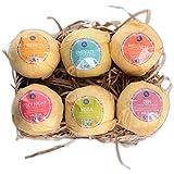 Bath Bombs,6 Organic Essential Oils Bath Bombs Gift Set Lush Fizzies-Best Birthday Gifts for Women,Teen Girls,Mum-Add to Bubble Bath Basket