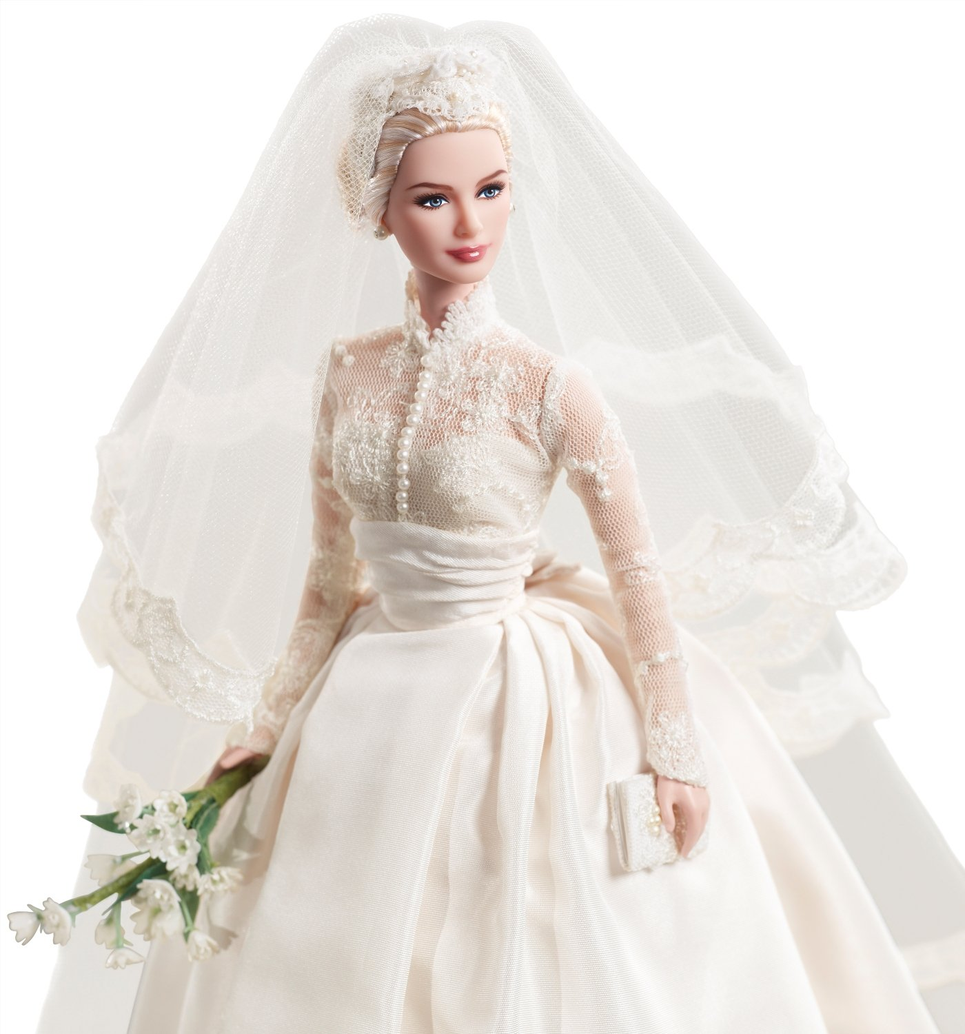 Amazon.com: Mattel\'s Barbie Princess Grace Kelly Bride in Silkstone ...