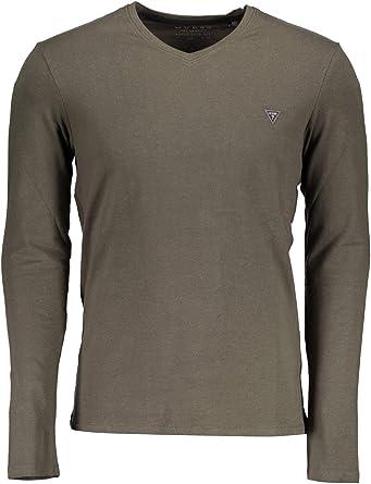 GUESS Jeans M84I08J1300 Camiseta con Las Mangas largas Hombre Verde LGG 2XL: Amazon.es: Ropa y accesorios
