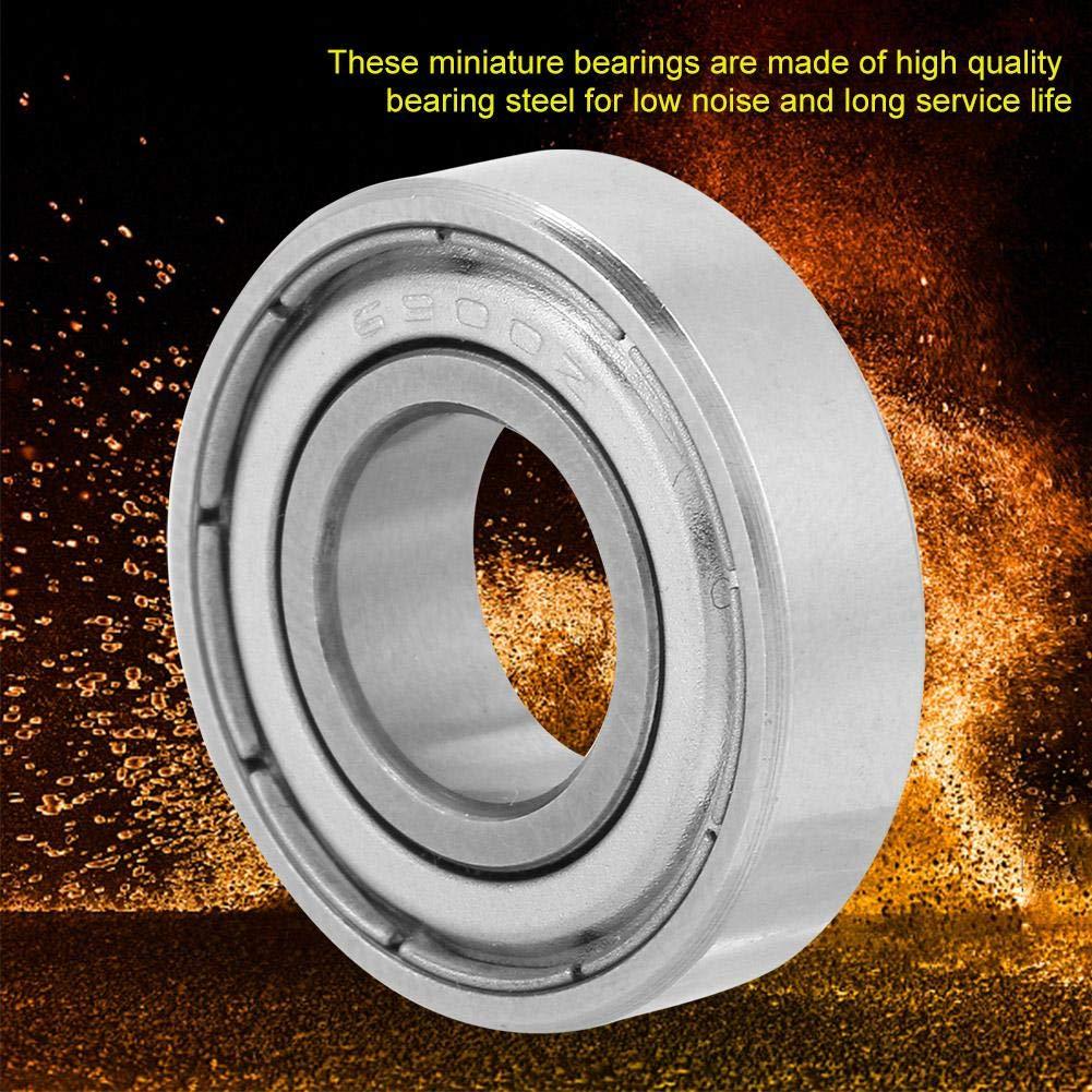 Roulements /à billes /à double blindage 10x22x6mm 10pcs 6900ZZ Roulement /à billes miniature en acier /à double blindage