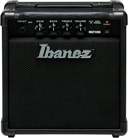 Amazon.com: Ibanez 1 Electric Guitar Mini Amplifier Black IBZ10G: Musical Instruments
