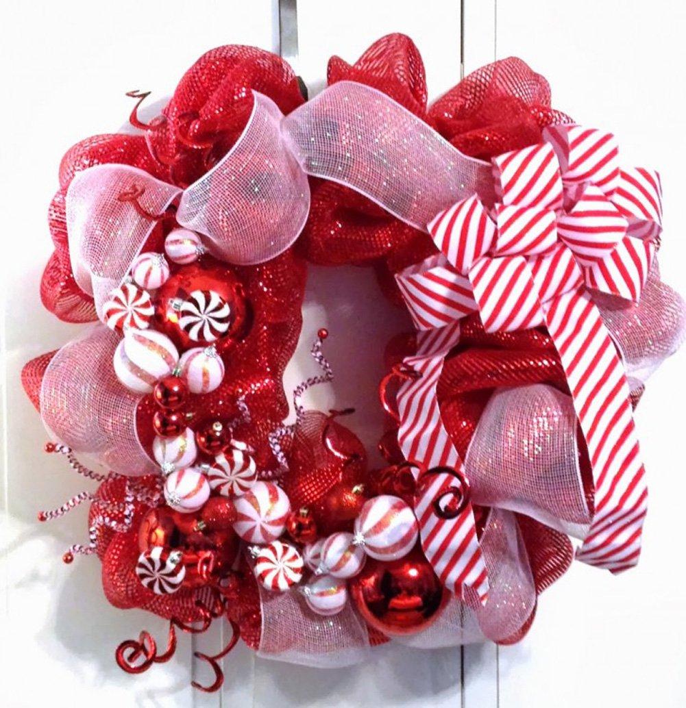Door Wreath Hanger 12 Inch-Clear Plastic 2 Giant Suction Cup Loop Wreath /& Swag Hooks Window /& Door Christmas Wreaths Hangers Bundle