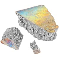 Bismuth Crystal,1000g Bismuth Metal Ingot Chunk 99.99% Pure Crystal Geodes for Making Crystals/Fishing Lures Bismuth Crystal Kit