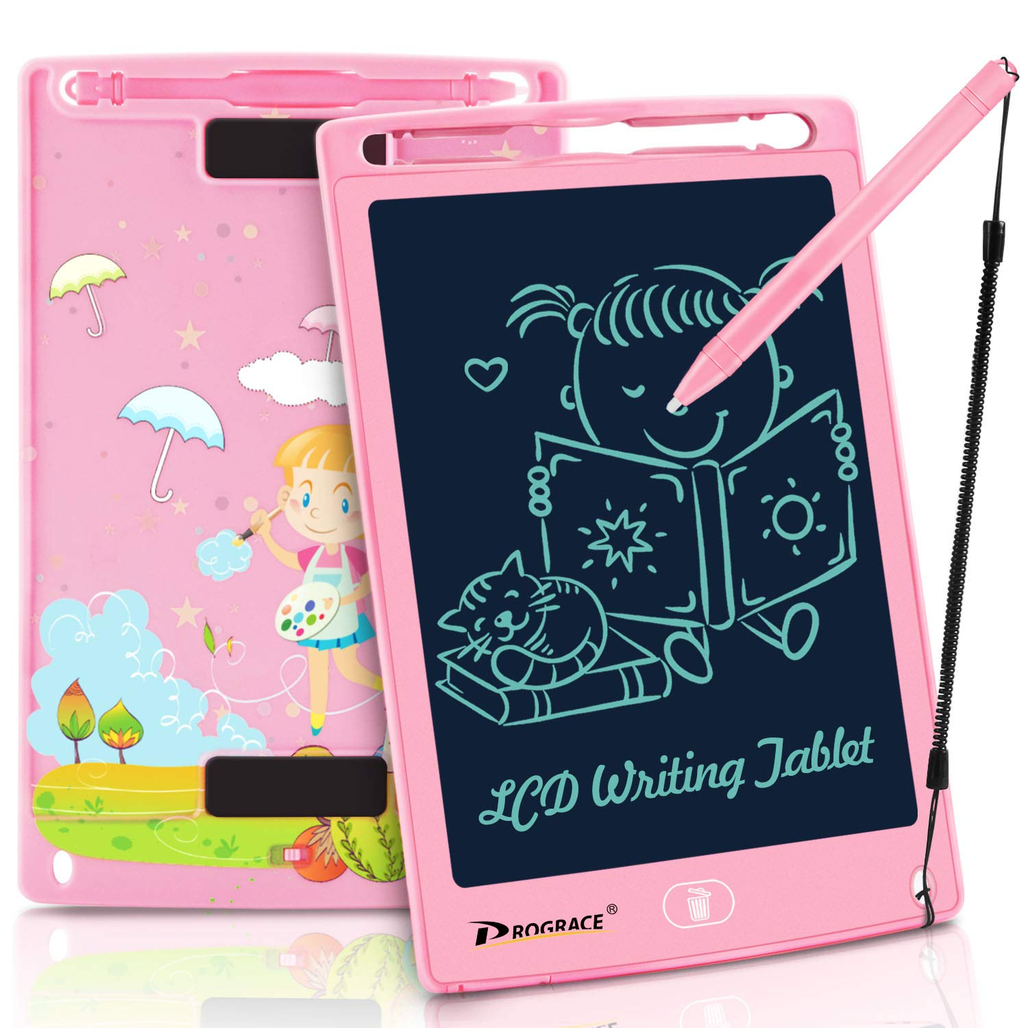 PROGRACE LCD Writing Tablet for Kids Learning Writing Board Magnetic Erase LCD Writing Pad Smart Doodle Drawing Board for Home School Office Portable Electronic Digital Handwriting Pad 8.5'' by PROGRACE