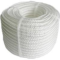 Plastic touw PP polypropyleen polytouw wit 20mx6mm
