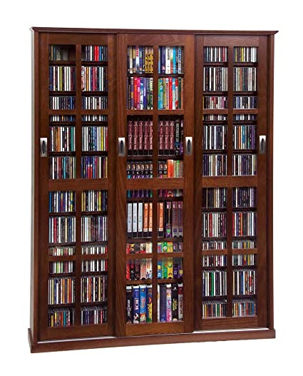 Amazon Multimedia Wall Cabinet W Three Sliding Doors W Glass
