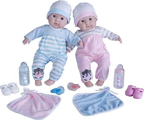 Jc toys berenguer boutique twins 15 soft body baby dolls 12 piece gift
