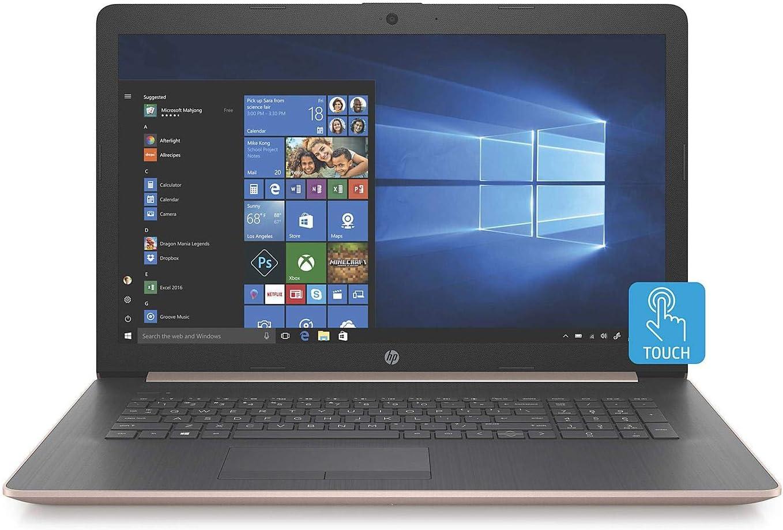 HP 17.3-inch HD+ Touchscreen Premium Laptop PC, Intel Quad Core i5-8265U Processor, 8GB DDR4 Memory, 256GB PCIe NVMe SSD, DVD, Bluetooth, Windows 10, Rose Gold