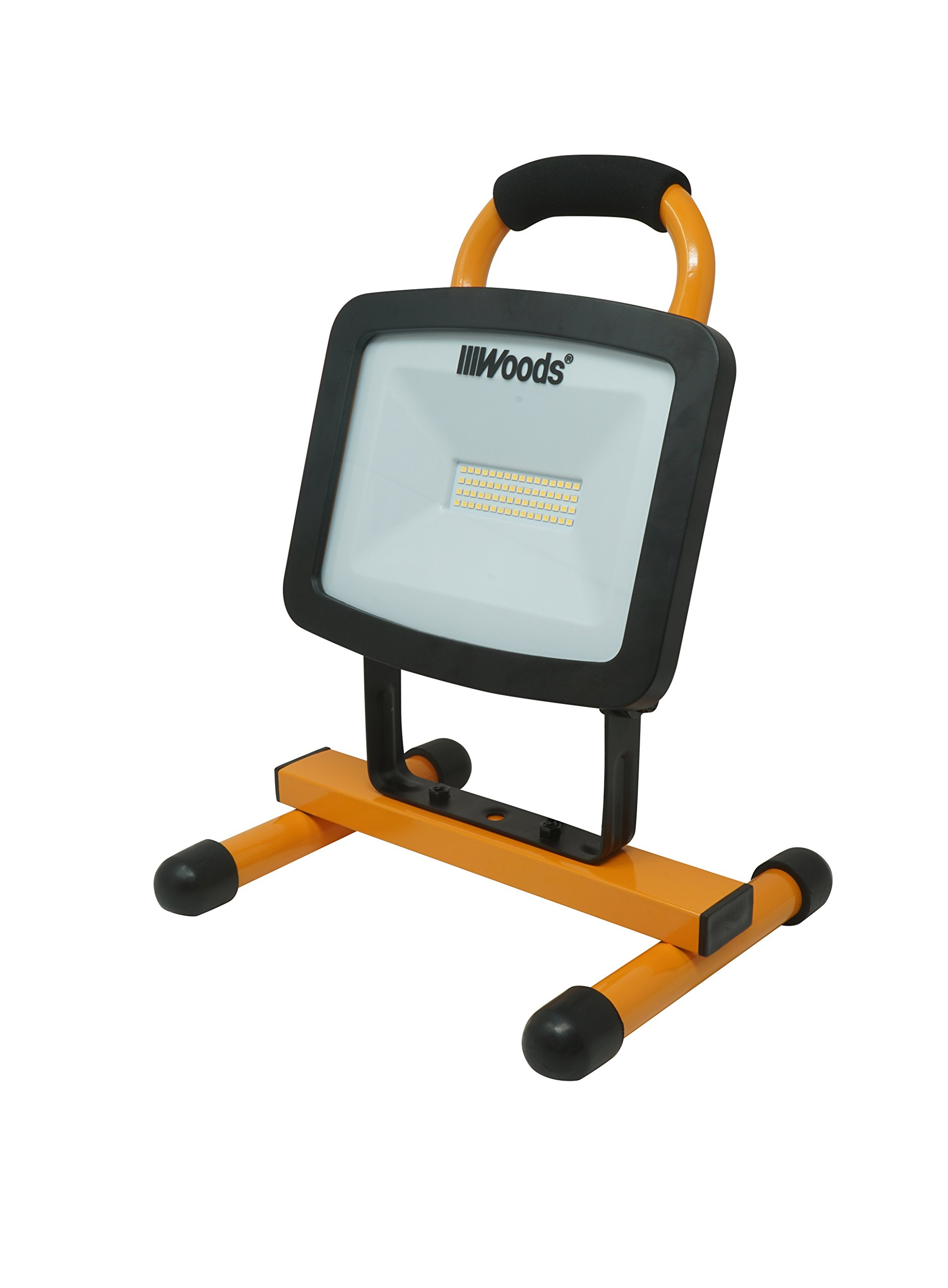 Woods WL40048 Work Light, H-Stand, Orange