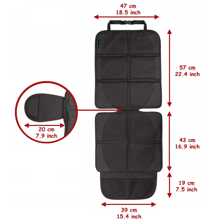 Autositzschoner Kindersitz Autositzauflage Kindersitzunterlage Rutschfeste Unterlage ISOFIX passende Autositzschoner wasserdicht 600D PVC Leder Schutzunterlage f/ür Universale Autos SNAWOWO