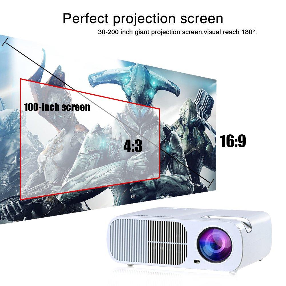 Amazon.com: OGIMA BL20 Video Projector,2600 Lumens Home Cinema ...