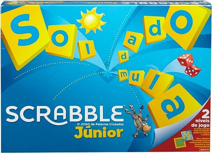 Mattel Games Scrabble junior, portugués, juego mesa niños (Mattel Y9827): Amazon.es: Juguetes y juegos