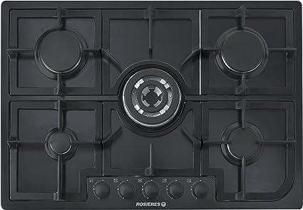 Rosieres RTG 75 sqfpn placa de cocina integrable 75 cm, en negro ...