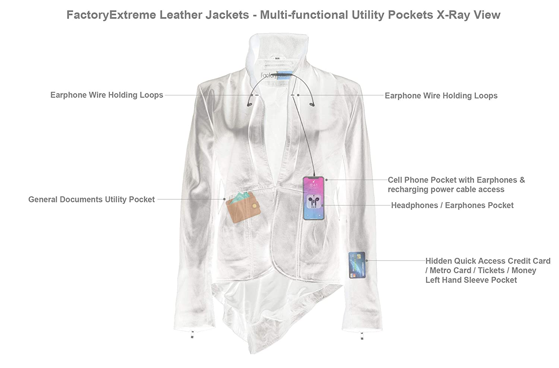 Amazon.com: FactoryExtreme Flam Glam Suave - Chaqueta de ...