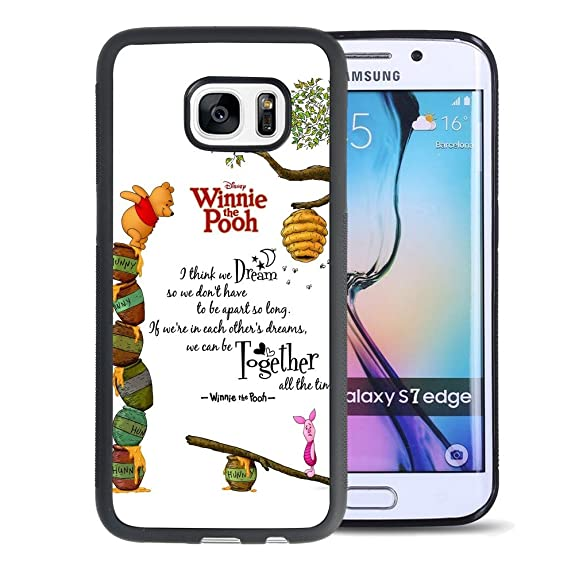 Amazon Com Winnie The Pooh Samsung Galaxy S7 Edge Case Onelee