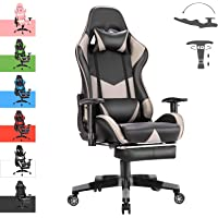 Advwin Gaming Chair Racing Style, Ergonomic Design with Footrest Reclining Executive Computer Office Chair, Relieve…