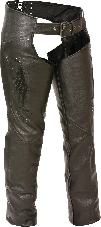 Milwaukee ML1179-BLK-5X Women\'s Leather Chaps (Black, 5X-Large) 71RHJzSe0gL