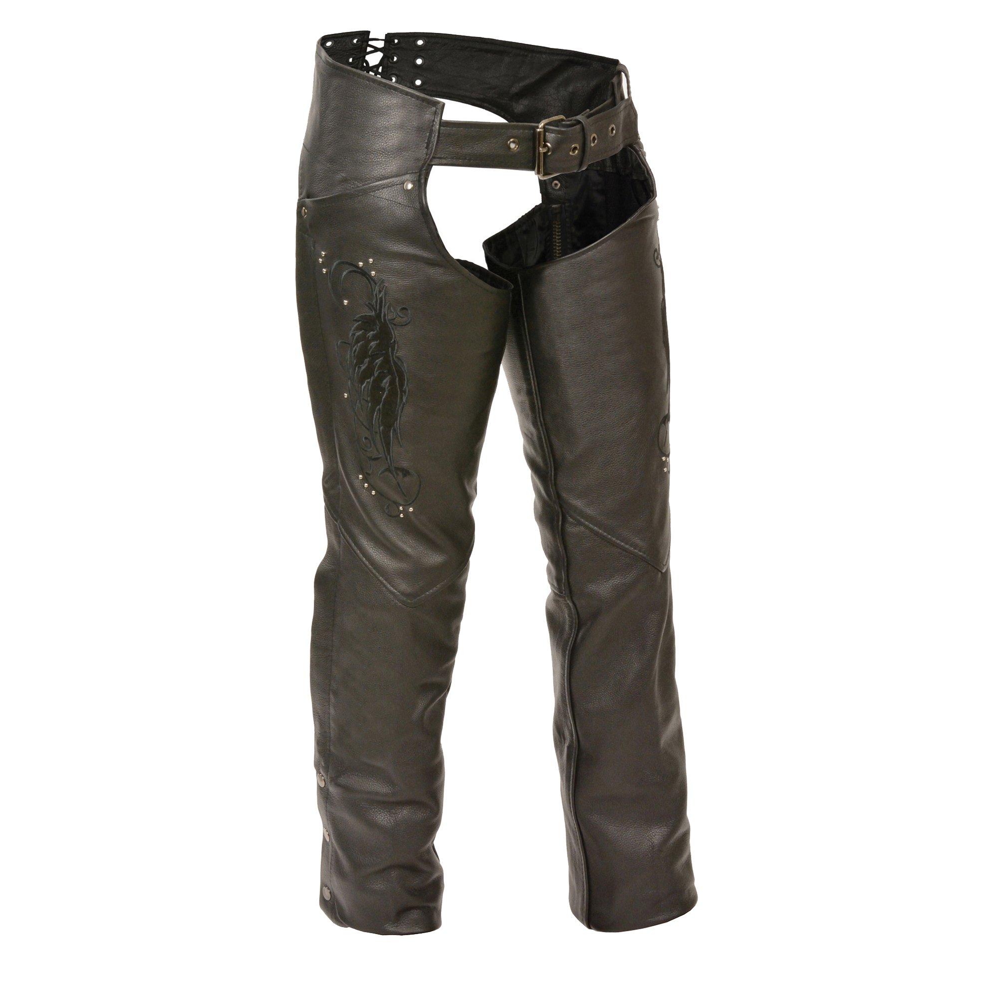 Milwaukee Women's Leather Chaps (Black, XXX-Small)