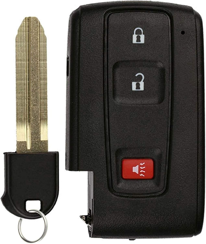 KeylessOption Keyless Entry Remote Smart Car Key Fob for Toyota Prius 2004-2009 FCC ID: MOZB31EG (DIY Step-by-Step Programming Instruction Included)