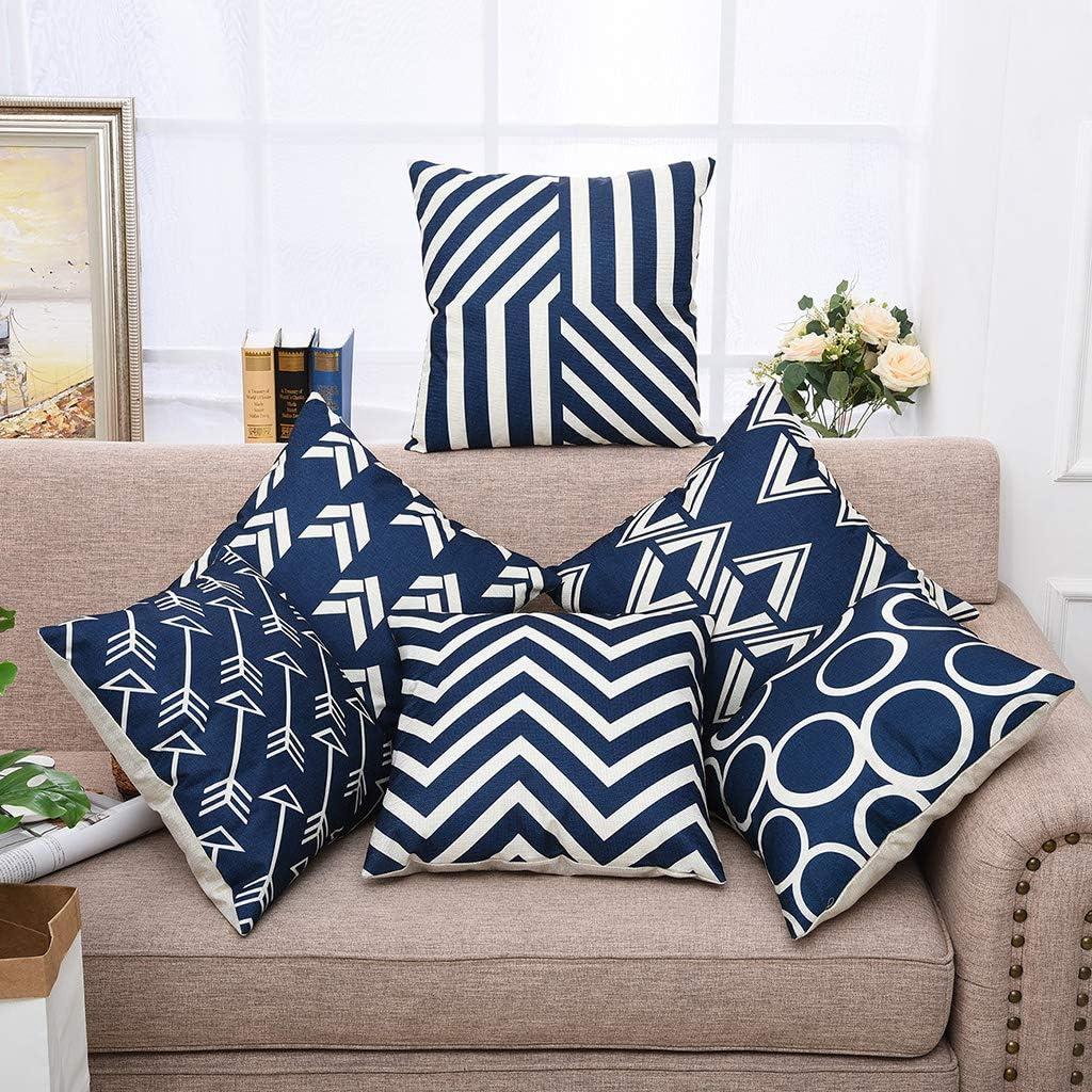 Nodic Geometric Square Cushion Cover Throw Pillow Case Home Sofa Peach Skin YW