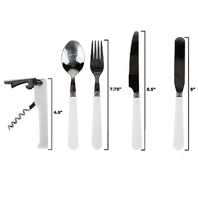 HOT Camping Multi-Tool Essential Eating Utensils Food Multi-function Mess Kit~
