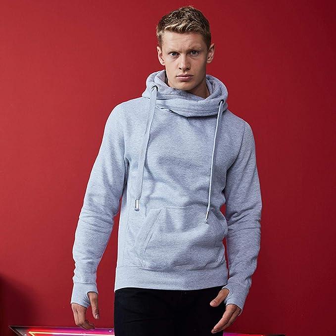 AWDis Cross Neck Mens Casual Hoodie JH021 Long Sleeve Top Tee Sweatshirt