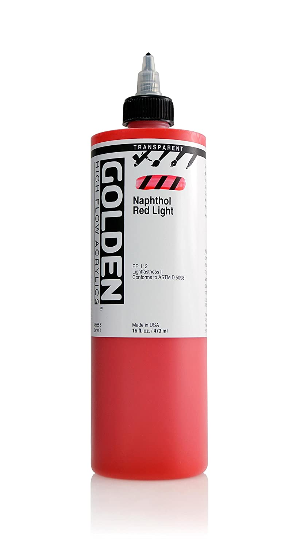 Golden Acrylics高フロー 16 oz cylinder GD8558-6 B00U4CBVH0 16 oz cylinder|Transp Naphthol Red Lt Transp Naphthol Red Lt 16 oz cylinder