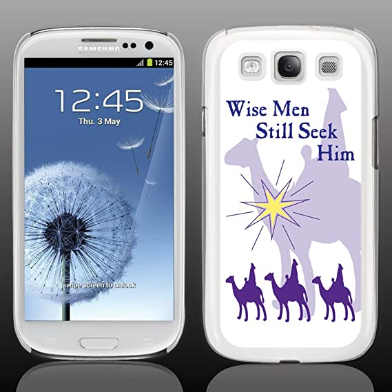 Amazon Com Victorystore Cellphone Cover Protective Hard Case Compatible With Samsung Galaxy S3 Christmas Wise Men Still Seek Him White Protective Hard Case