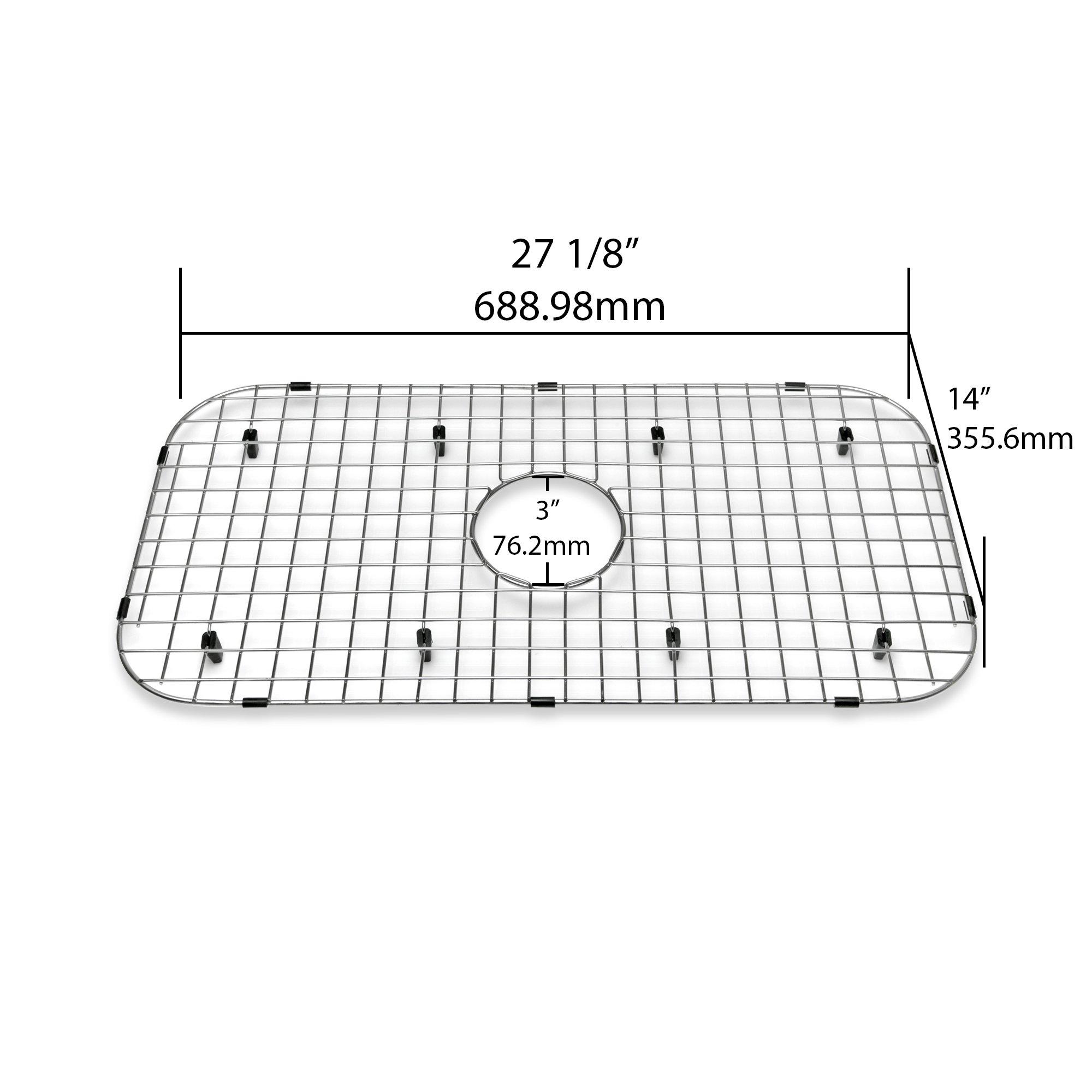 "Decor Star KBG-P05 Kitchen Sink Bottom Grid, Stainless Steel, 27 1/8"" x 14"""