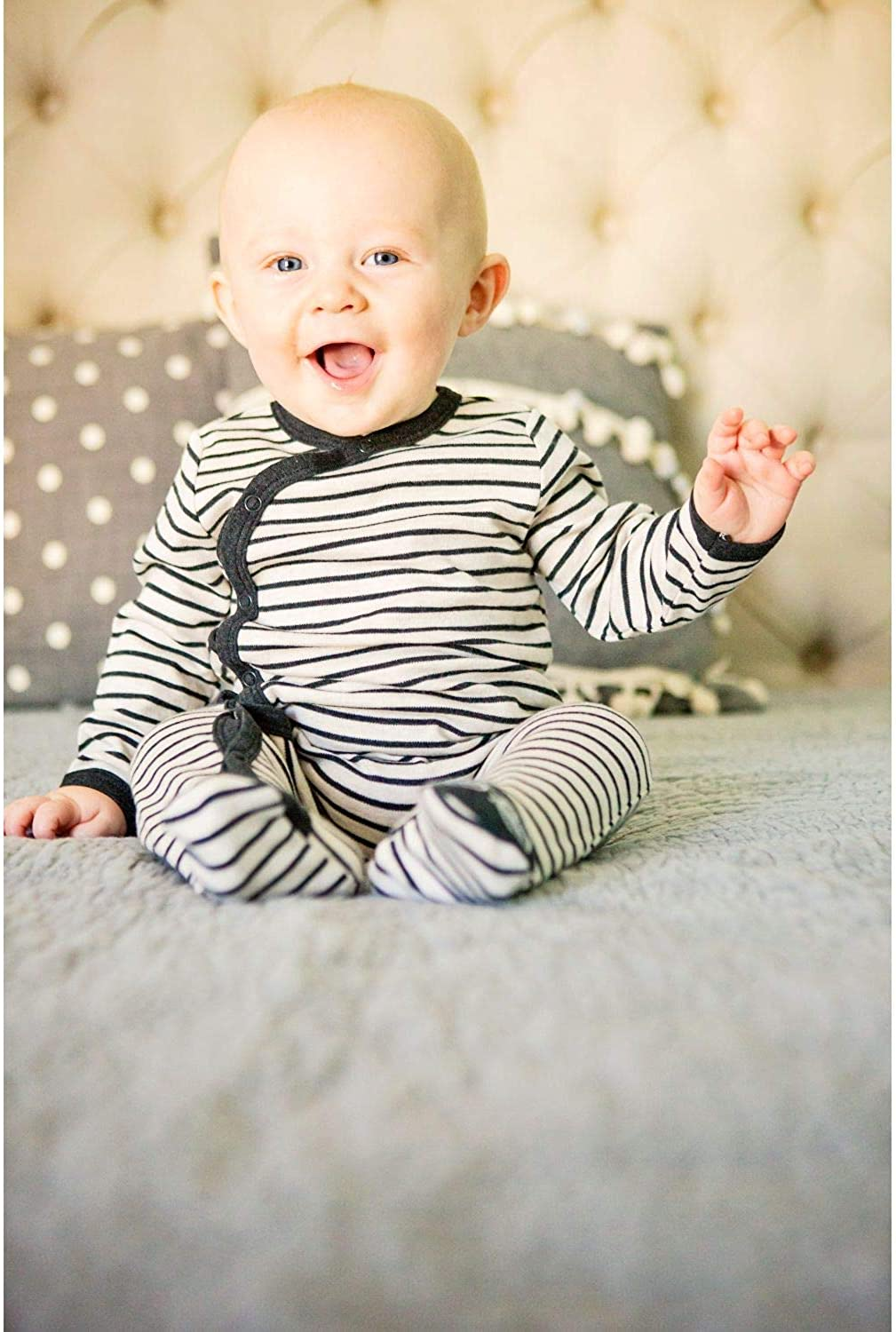 Asher /& Olivia Footed Pajamas for Boys with Baby Hat Side Snap Onesies Footies