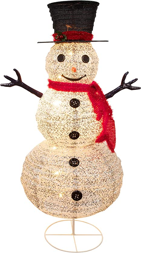Christmas fabric Home for the Holidays white snowman couple on red ground
