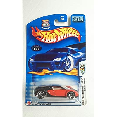 Hot Wheels 2003-030 First Editions Red & Black Bugatti VEYRON 1:64 Scale Highway 35: Toys & Games