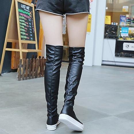 Taottao Stivali da donna al ginocchio in morbida pelle