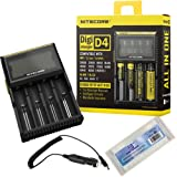 Amazon Price History for:NiteCore NiteCore-D4+CAR-Adapter Bundle Nitecore D4 Charger with Integrated LCD Panel Clearly Displays for Li-Ion Ni-MH Ni-Cd Batteries with Bonus Car Adapter