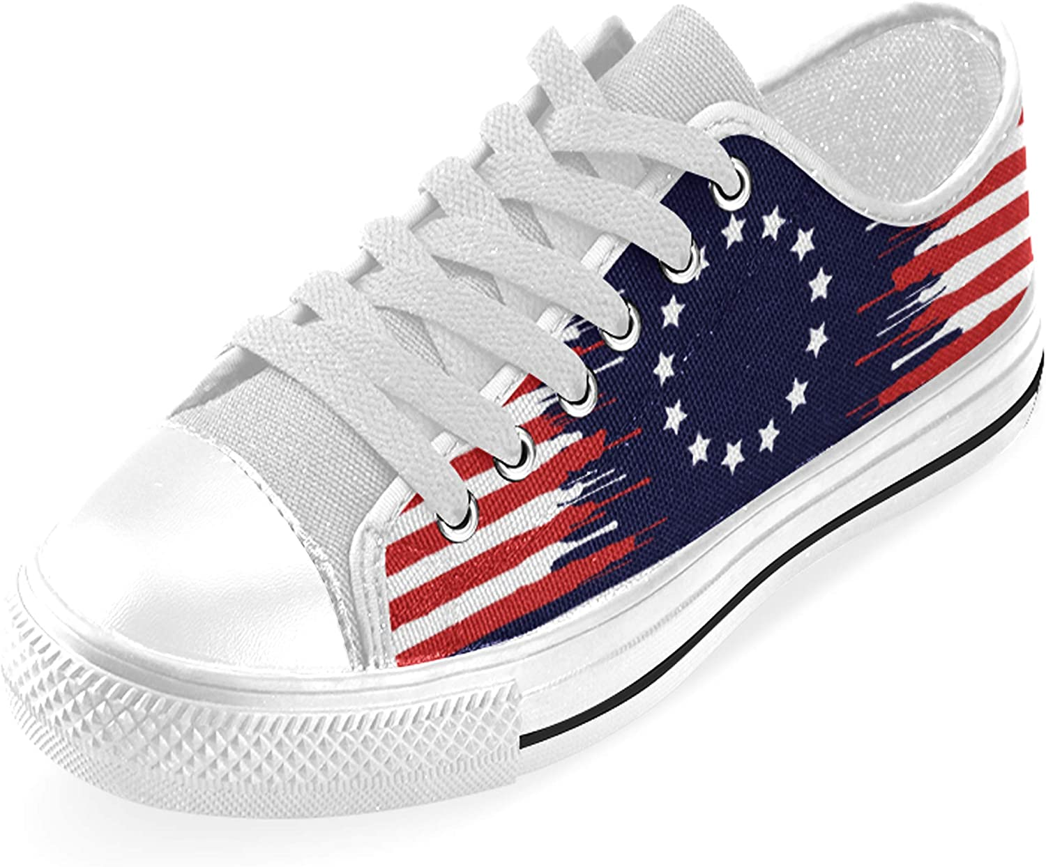 Betsy Ross Patriotic Flag Low Top