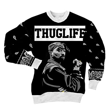 110a346fc4c Chiclook Cool THUGLIFE Unisex Hip Hop Tupac Shakur 2Pac Sweatshirt Hoodies  Clothing T Shirt at Amazon Women s Clothing store
