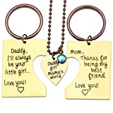 Amazon Price History for:O.RIYA Daddy's Girl Mommy's World 3 Piece Keychain Pendant Necklace Set, Gift for Daughter, Mommys Little Girl, Mums Dad Necklaces Stainless Steel