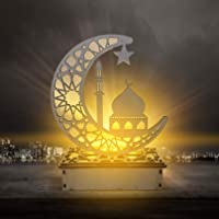 Eid Mubarak Ramadan Houten led-lamp, moslim, Ramadan, festival, decoratie, halve maan, sterrenlantaarn, halve maan…