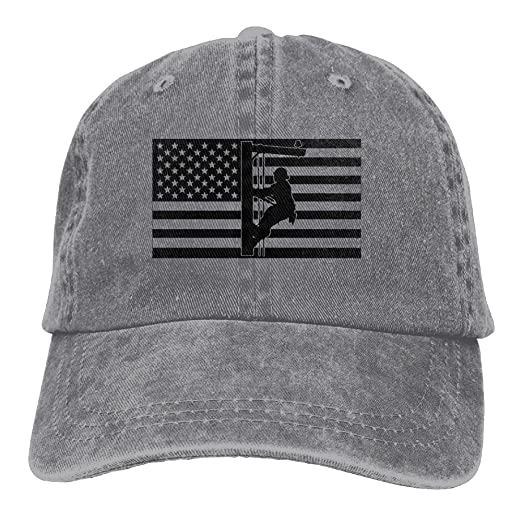 Source Point Lineman American Flag Unisex Adult Baseball Hat Sports Outdoor  Cowboy Cap for Men and Women Snapback at Amazon Men s Clothing store  f0ecb01be7f