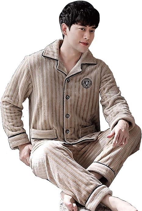 Hombre En Pijamas Conjuntos Y Otoño Invierno Coral Velvet ...